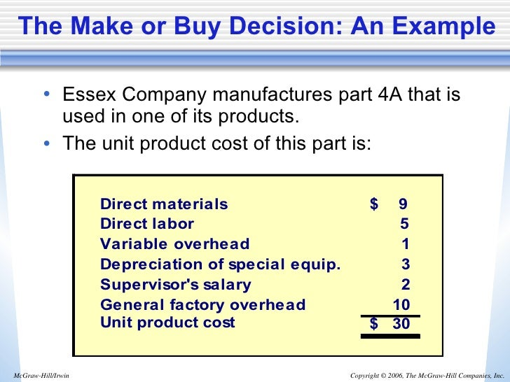 make or buy decision accounting