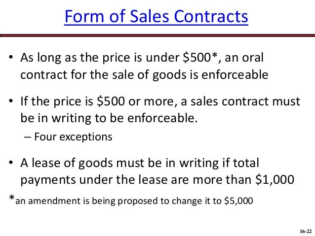 Are Oral Contracts Enforceable?