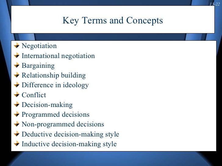 concepts of negotiation