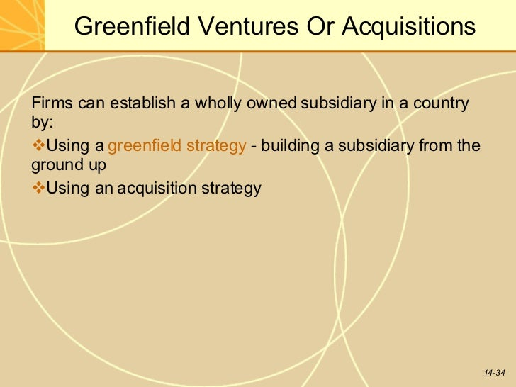 greenfield venture example