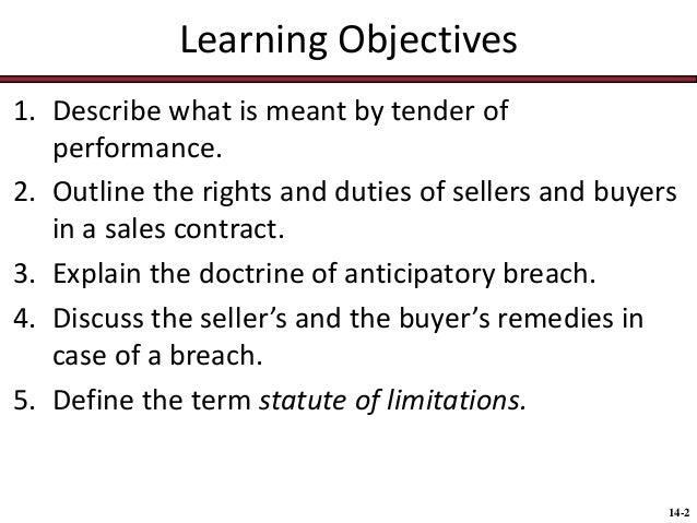 chap014 sales contracts rights duties breach warranties