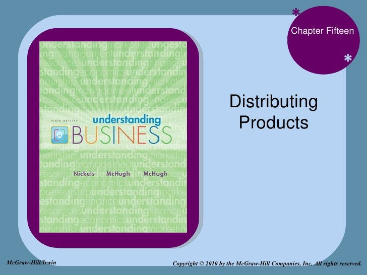 * * Chapter Fifteen Distributing Products Copyright © 2010 by the McGraw-Hill Companies, Inc. All rights reserved. McGraw-...