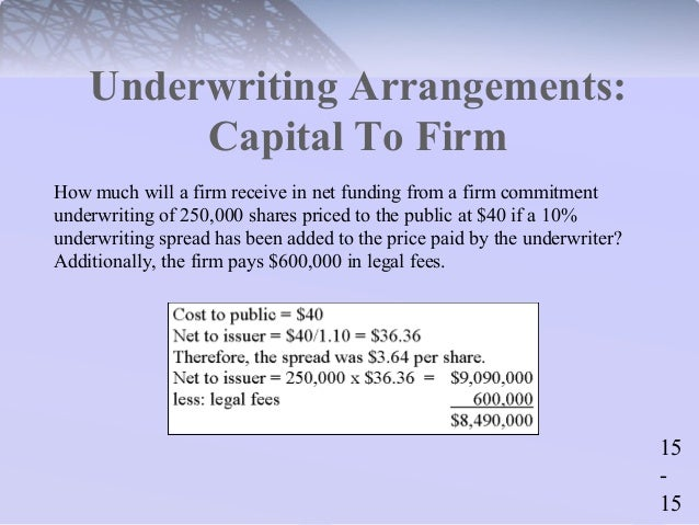 How much does underwriter get from an ipo