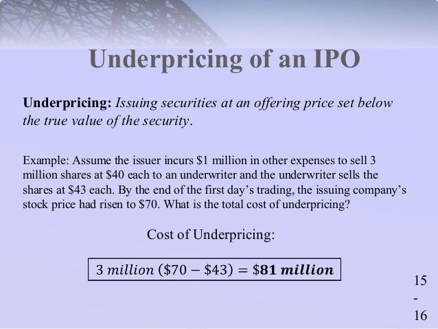 Ipo underwriting spread ifm