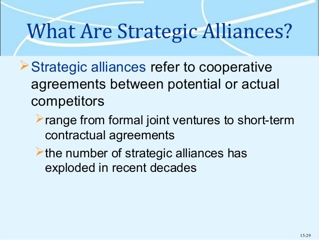 entry strategies strategic alliances The emergence of these more strategic alliances reflects, in part, a rethinking on   toward integrating philanthropic activities into their strategies and operations.