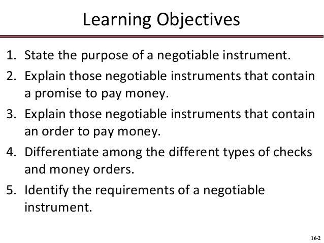 BUS 116 Chap016  negotiable instruments Slide 2