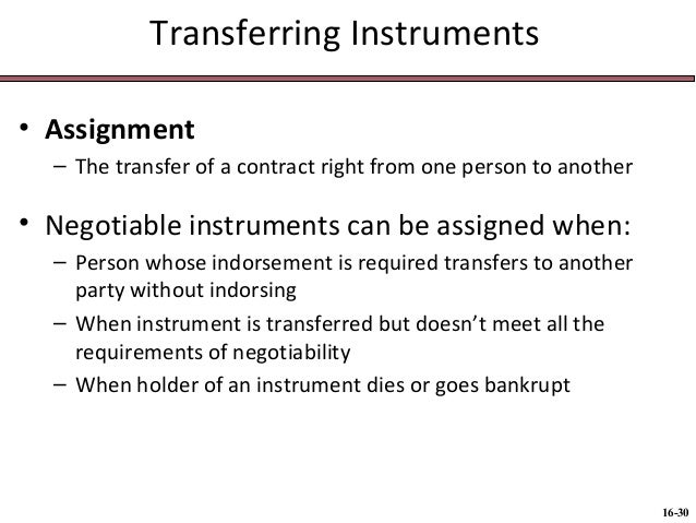antedating an instrument affects an instruments negotiability Negotiability of corporate bonds negotiability of bonds instruments for the payment of money that a person to whom such an instrument has been transferred.