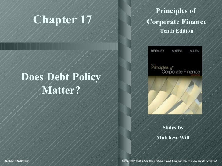 Principles of                    Chapter 17                     Corporate Finance                                         ...