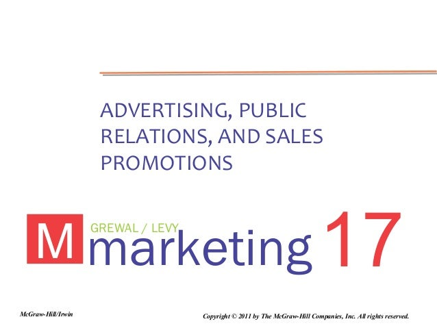 ADVERTISING, PUBLIC                     RELATIONS, AND SALES                     PROMOTIONS    M marketing 17             ...