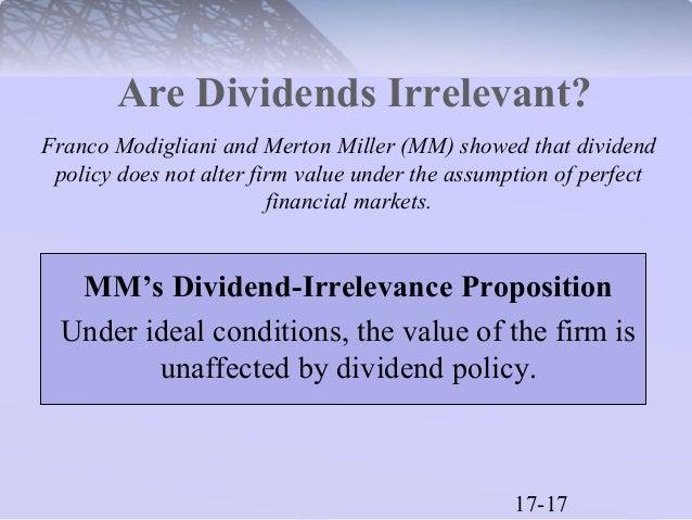 Miller modigliani dividend irrelevance proposition