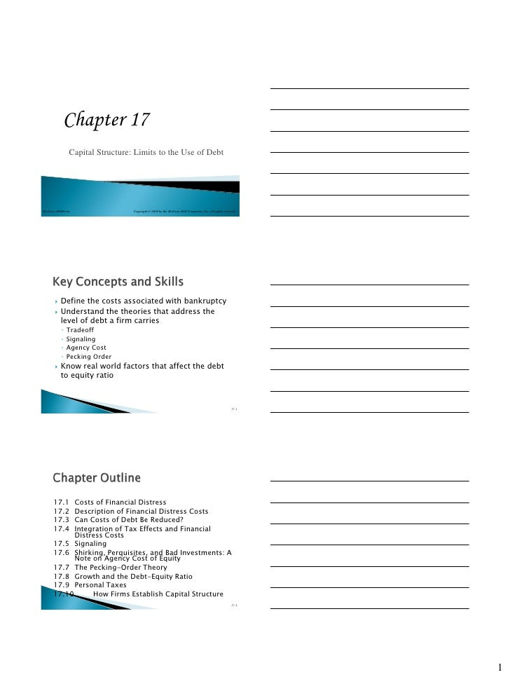 Chapter 17                Capital Structure: Limits to the Use of DebtMcGraw-Hill/Irwin                 Copyright © 2010 b...