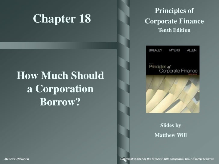 Principles of                    Chapter 18                     Corporate Finance                                         ...
