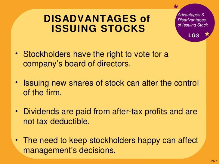 advantages and disadvantages of stock exchange The advantages and disadvantages of exchange traded derivatives  while the stock only appreciated by 20%  advantages and disadvantages of direct selling:.
