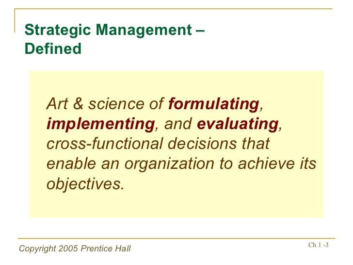 Essence of Strategic Management