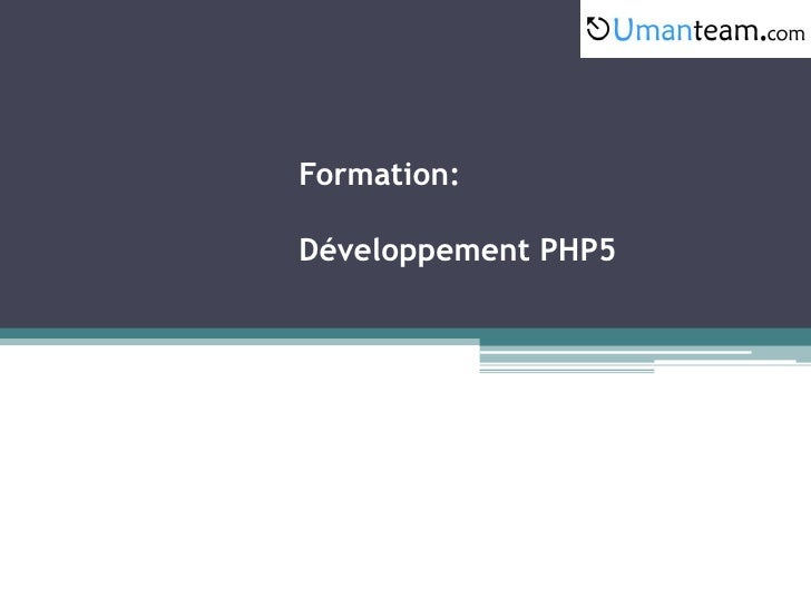 Formation:Développement PHP5