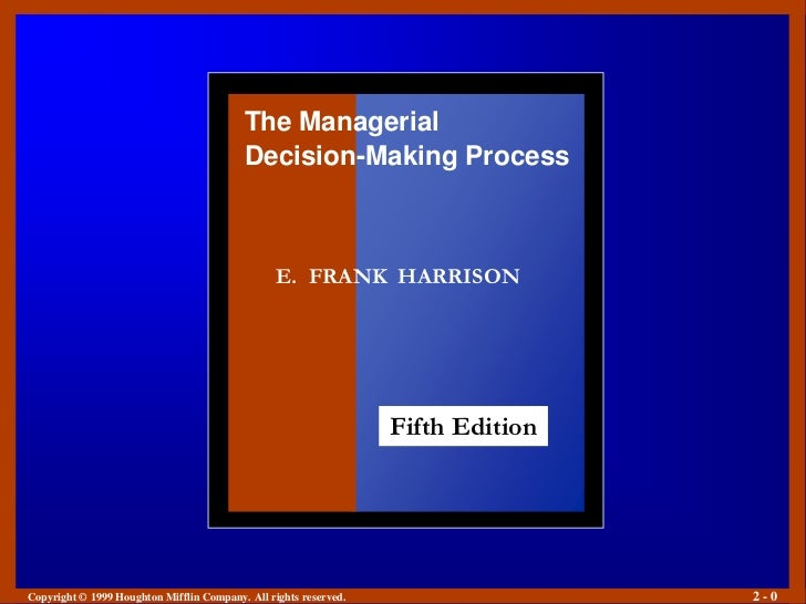 The Managerial                                          Decision-Making Process                                           ...