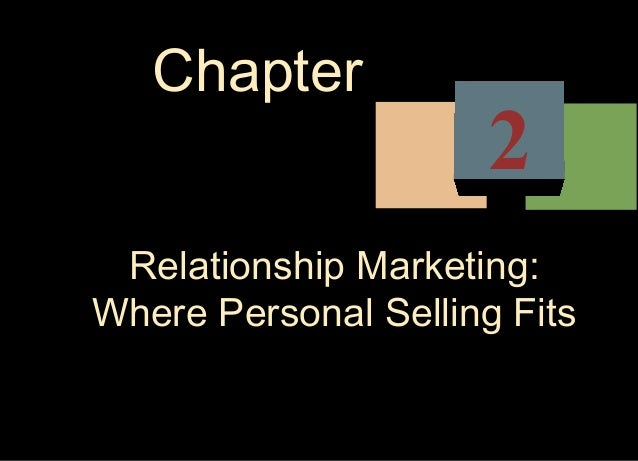 Chapter                      2 Relationship Marketing:Where Personal Selling Fits
