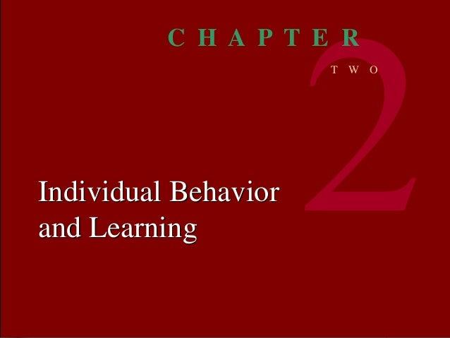 Organizational BEHAVIOR MCSHANE VON GLINOW 1 © The McGraw-Hill Companies, Inc. 2000Irwin/ McGraw-Hill Individual Behavior ...
