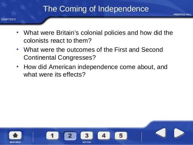 A description of the continental congress and its effects to the american government