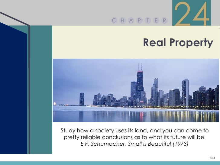 C H A P       T   E R                                            24                                Real PropertyStudy how ...