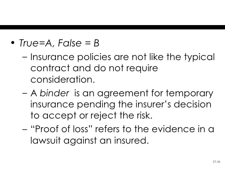 Chapter 27 Insurance Law