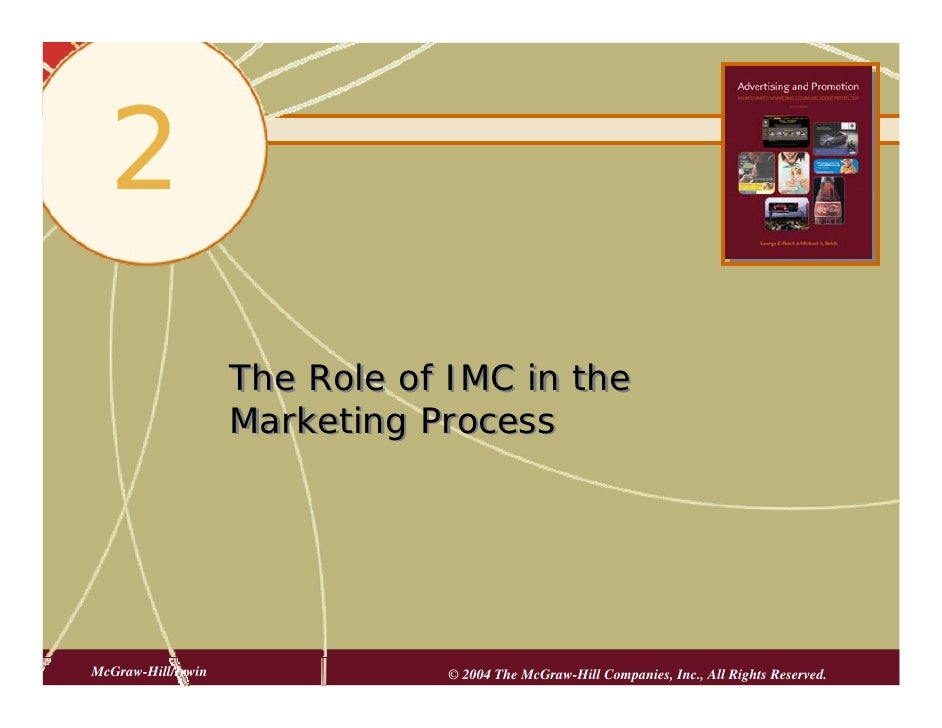 2   2                      The Role of IMC in the                     Marketing Process     McGraw-Hill/Irwin             ...