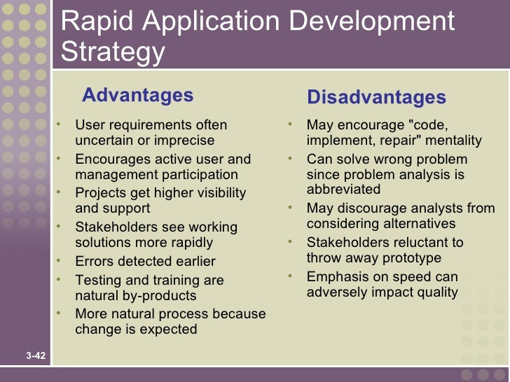 impact of rapid application development rad Rapid application development (rad) describes a method of software  rad  inherently has the same beneficial impact on the components.