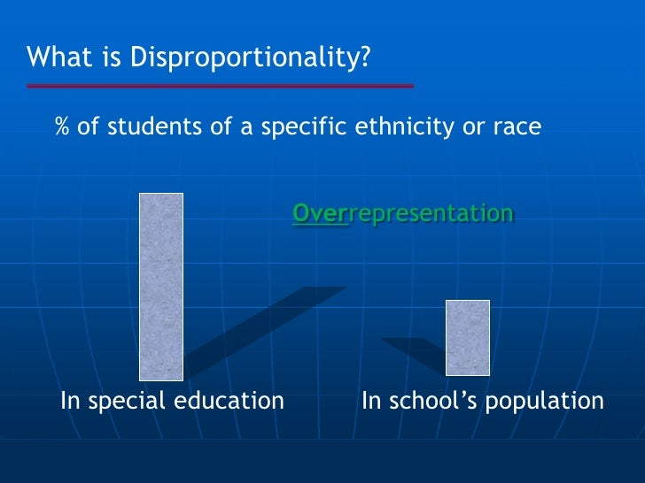 overrepresentation of minorities in special education statistics