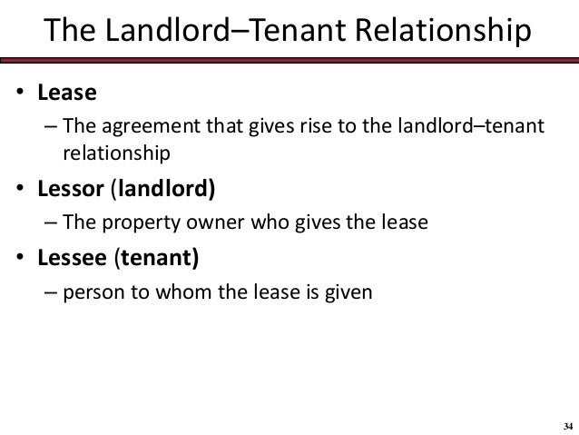 owner and tenant relationship