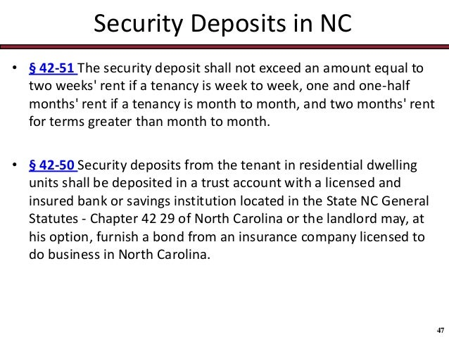 Nc General Statutes For Deed Of Real Property