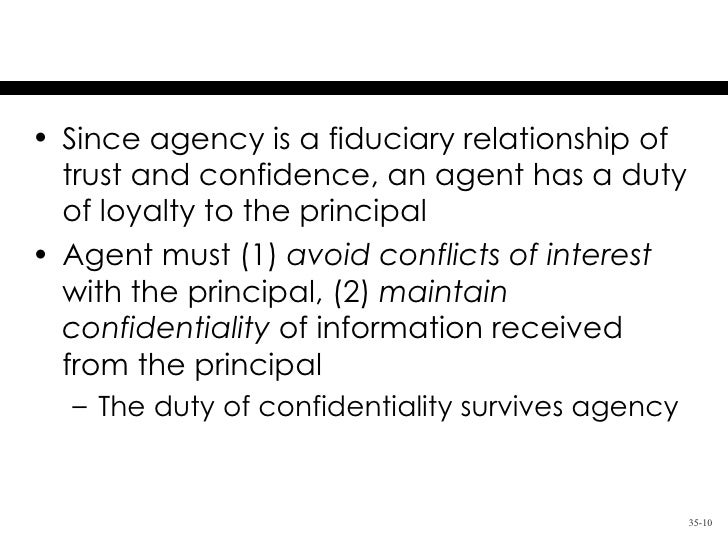 Chapter 35 The Agency Relationship