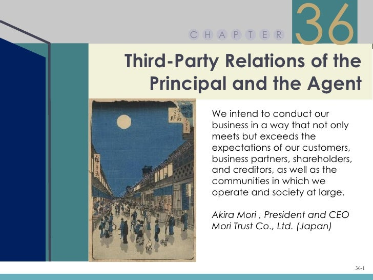 C H A P    T   E RThird-Party Relations of the                            36   Principal and the Agent          We intend ...