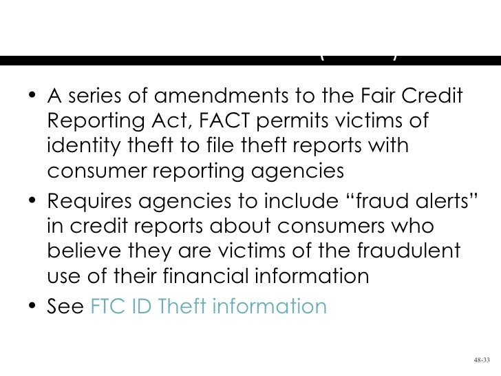Chapter 48 the federal trade commission act and consumer protection fair and accurate credit transactions publicscrutiny Gallery