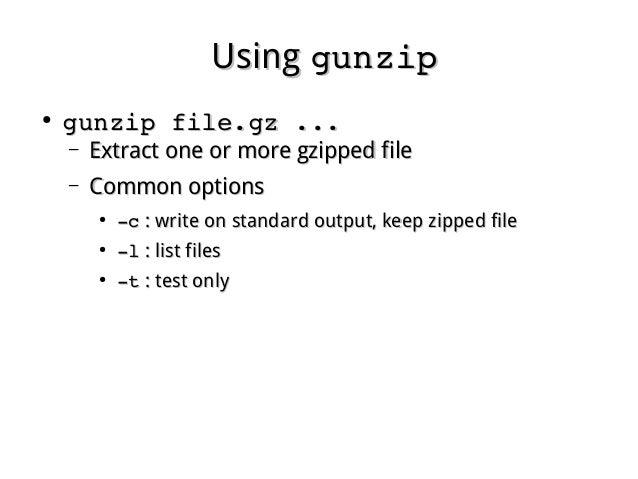 Linux fundamental - Chap 04 archive