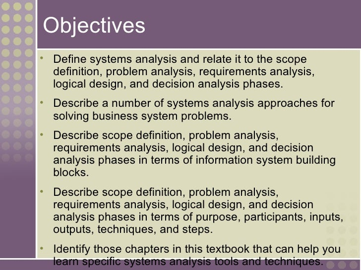 Scope definition phase+system analysis and design — img 2