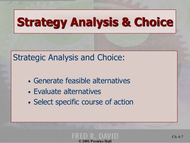 Strategic Analysis and Choice: A Structured Approach