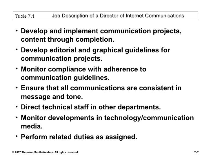 Communications Director Job Description Senior Marketing Manager