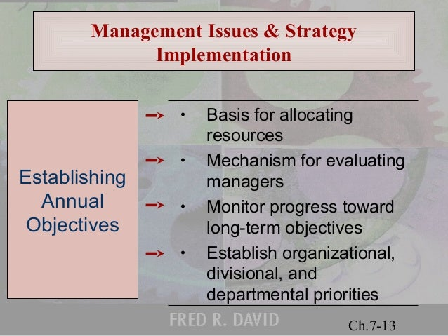 The Challenge of Strategy Implementation: Tools for Turning Your Firm's Strategic Plan into Action