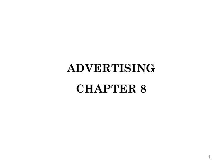 ADVERTISING CHAPTER 8