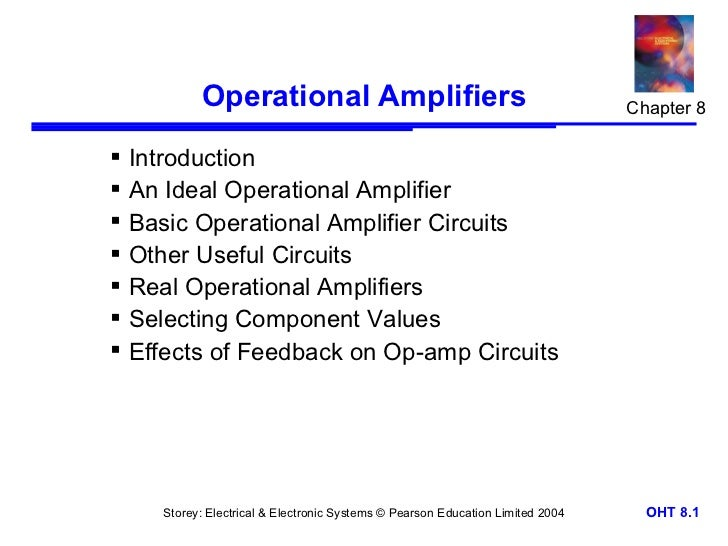 Operational Amplifiers                                               Chapter 8 Introduction An Ideal Operational Amplifi...
