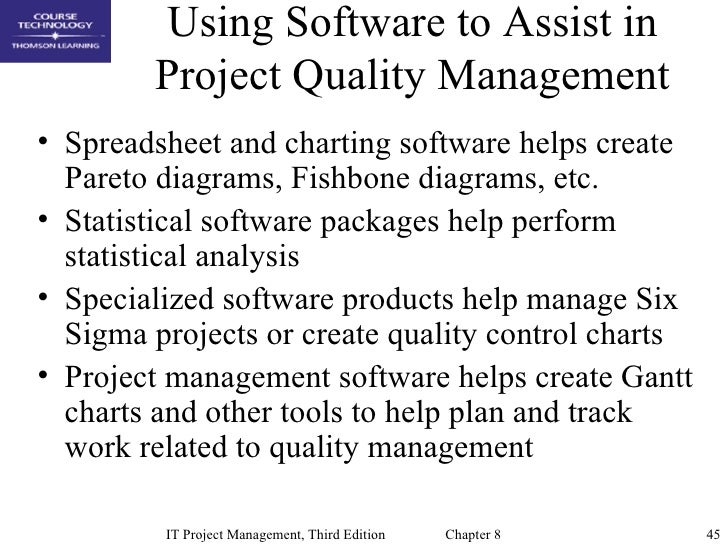 Chap08 project quality management 45 using software to assist in project quality management spreadsheet and charting software helps create pareto diagrams ccuart Choice Image