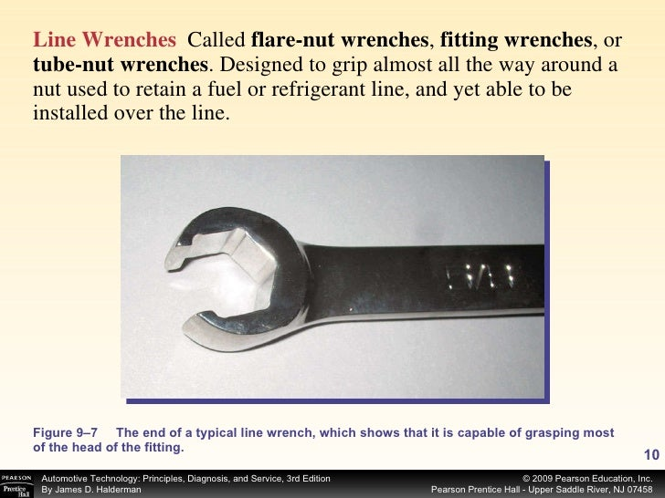<ul><li>Line Wrenches   Called  flare-nut wrenches ,  fitting wrenches , or  tube-nut wrenches . Designed to grip almost a...