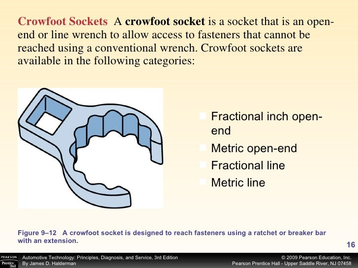 <ul><li>Crowfoot Sockets   A  crowfoot socket  is a socket that is an open-end or line wrench to allow access to fasteners...