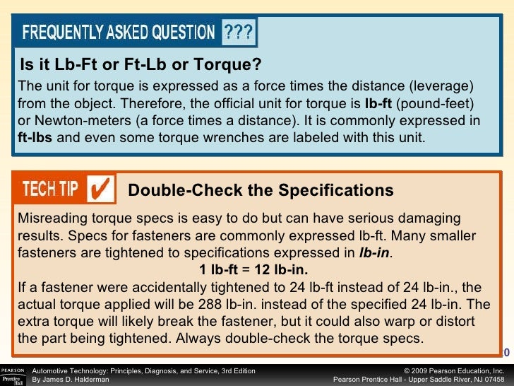 The unit for torque is expressed as a force times the distance (leverage) from the object. Therefore, the official unit fo...