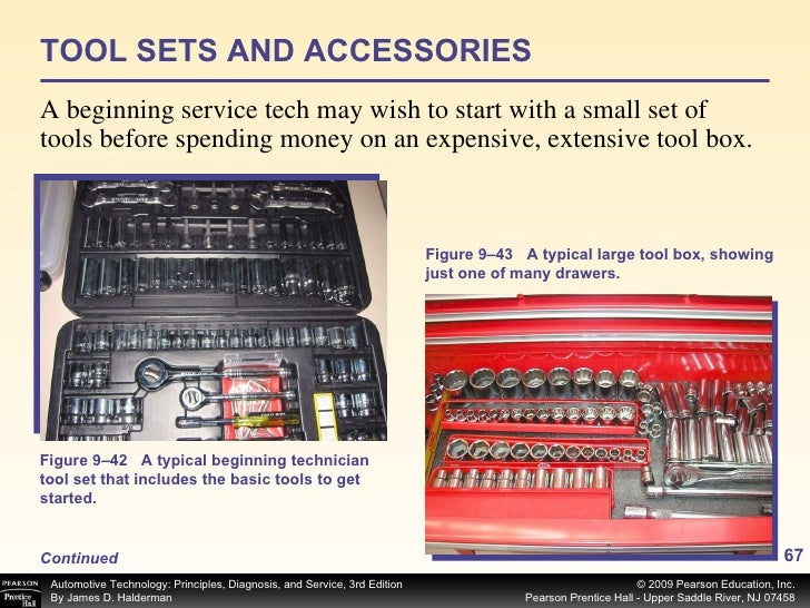 TOOL SETS AND ACCESSORIES <ul><li>A beginning service tech may wish to start with a small set of tools before spending mon...