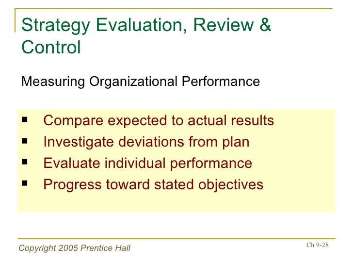 strategy evaluation and control Barriers in strategic evaluation and control nebulousness is not unique to strategic evaluation and control but it is unique to entire management process.