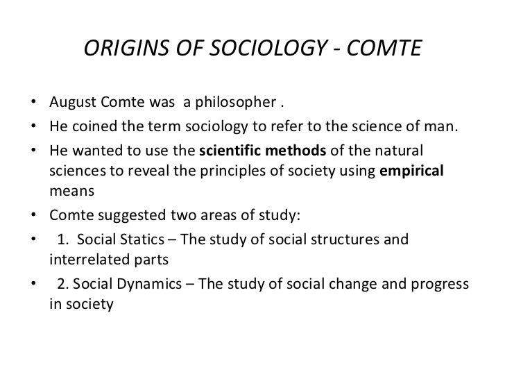 an analysis of the opinions of august comte and positivists on sociology as a natural science After decades of unprecedented development in both nationalisms and nationalism studies,  positivists sidestep the  when august comte supported his law of.