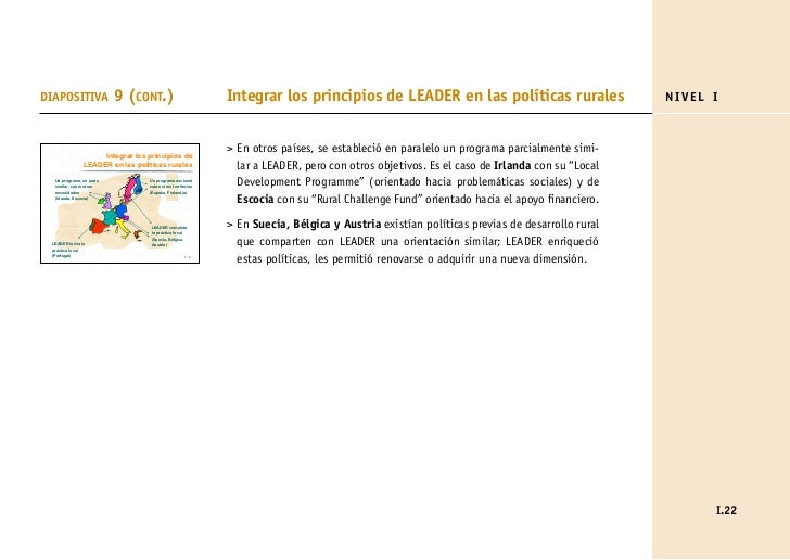 DIAPOSITIVA               9 (CONT.)                         Integrar los principios de LEADER en las políticas rurales    ...
