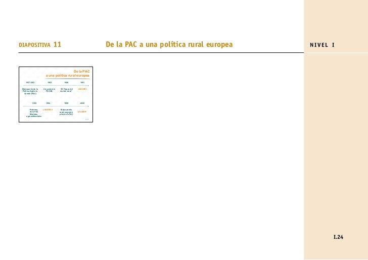 DIAPOSITIVA                      11                                     De la PAC a una política rural europea   NIVEL I  ...