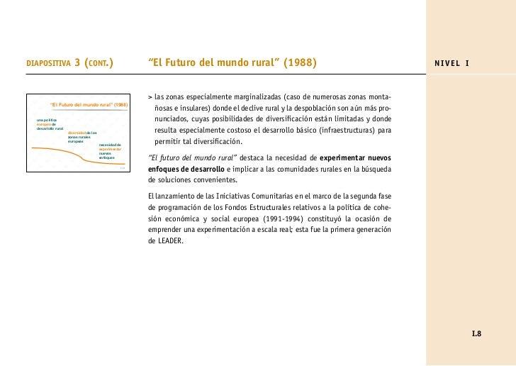"DIAPOSITIVA             3 (CONT.)                         ""El Futuro del mundo rural"" (1988)                              ..."